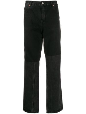 Two-tone Straight Leg Jeans