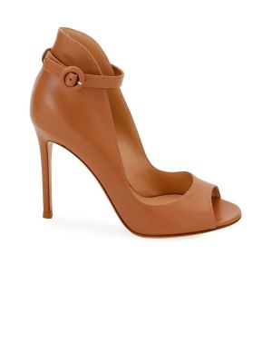 Peep-toe Ankle Strap Pumps