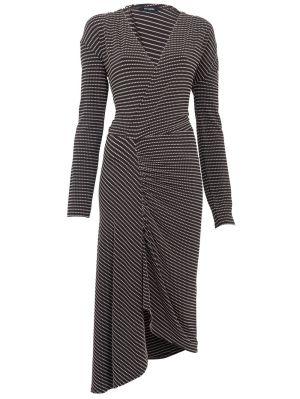 Stretch Jacquard Midi Dress