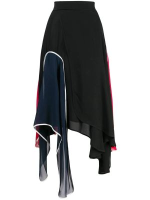 Multicolored Asymmetric Skirt