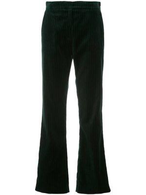 Green Tailored Velvet Pants
