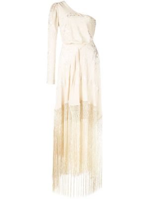 Fringed One Shoulder Dress