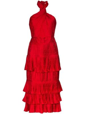 Red Eccentric Vibes Midi Dress