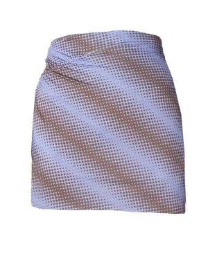 Ruched Mini Skirt, Purple Brown