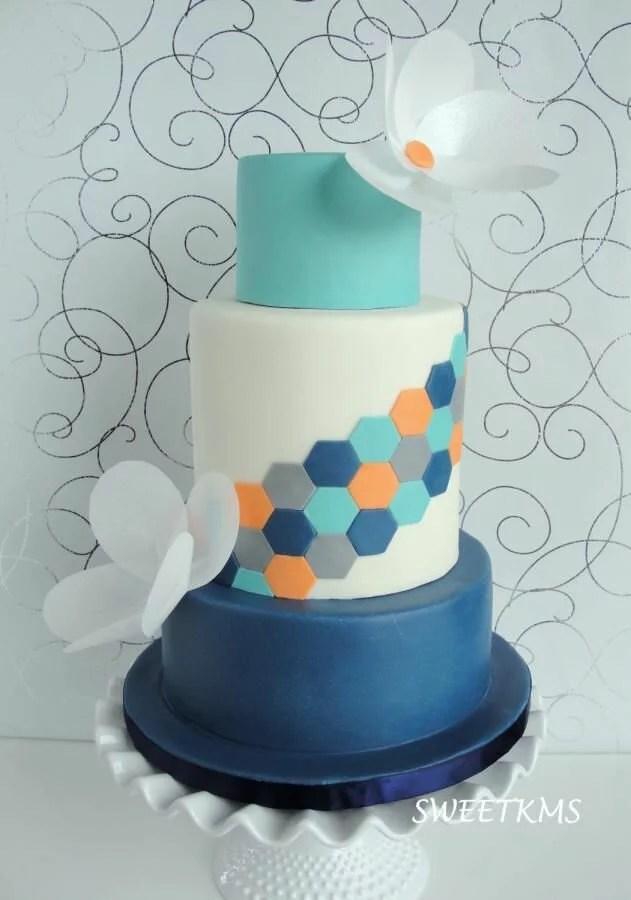 Wedding Cake Wednesday  Geometric Cakes