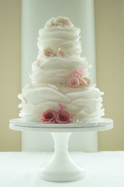 Wedding Cake Wednesday  Ruffle Cakes