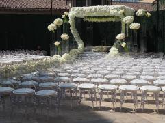 Luxe Garden Wedding Ceremony by Debbie Geller
