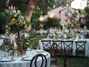 Romantic Reception at Hotel Bel Air by Debbie Geller