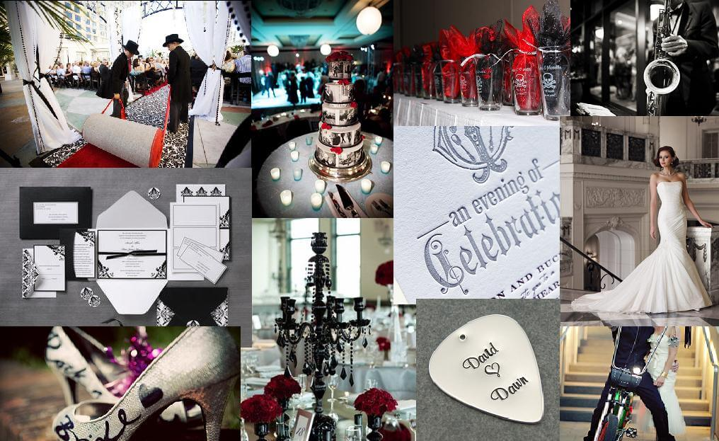 Organize A Stunning Rock & Roll Themed Wedding For Your