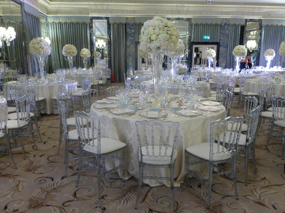 chiavari chair hire wedding london lounge recliner glass beaded charger plates -