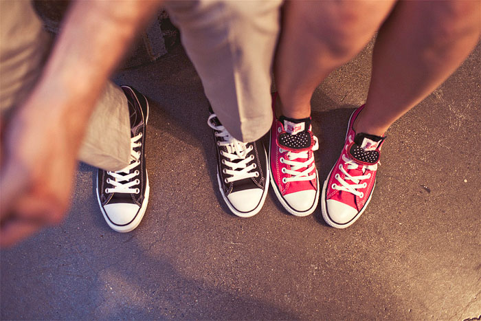 Bride and groom wearing Converse sneakers. Jagger Photography. www.theweddingnotebook.com
