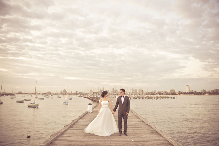Pre-wedding photo shoot in Melbourne Australia