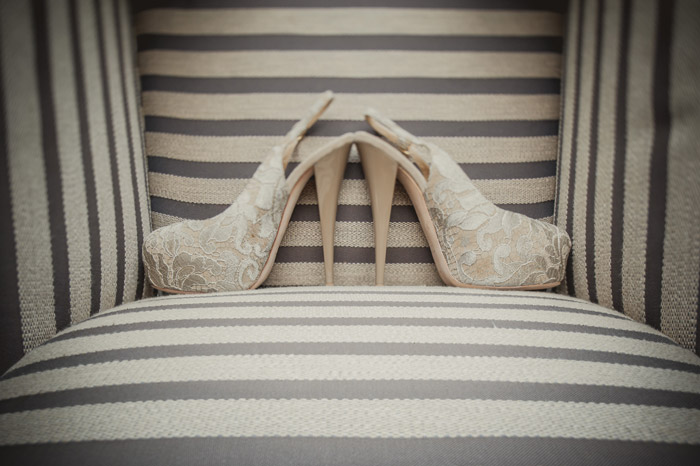 Bridal heels by Giuseppe Zanotti. Photography by Creative Clicks. www.theweddingnotebook.com