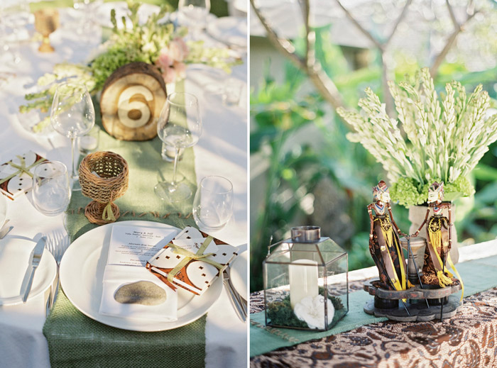 Wedding table décor. Vicki Grafton Photography. www.theweddingnotebook.com