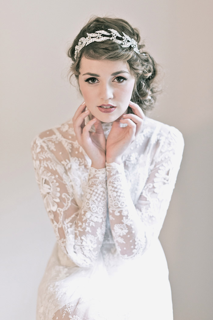 'Lady Mary Headband' Enchanted Atelier Fall Winter 2013 Collection. www.theweddingnotebook.com