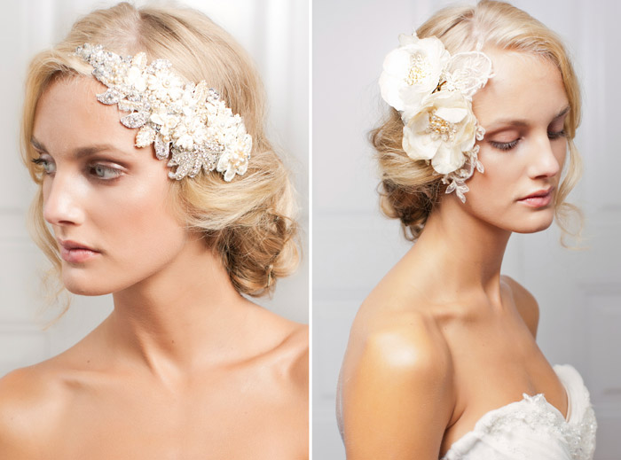 MARLENE & ROSE – Jannie Baltzer 2013 Bridal Headpiece Collection. www.theweddingnotebook.com
