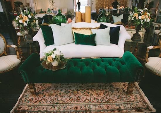 Emerald Green  Mustard Yellow Wedding Inspiration