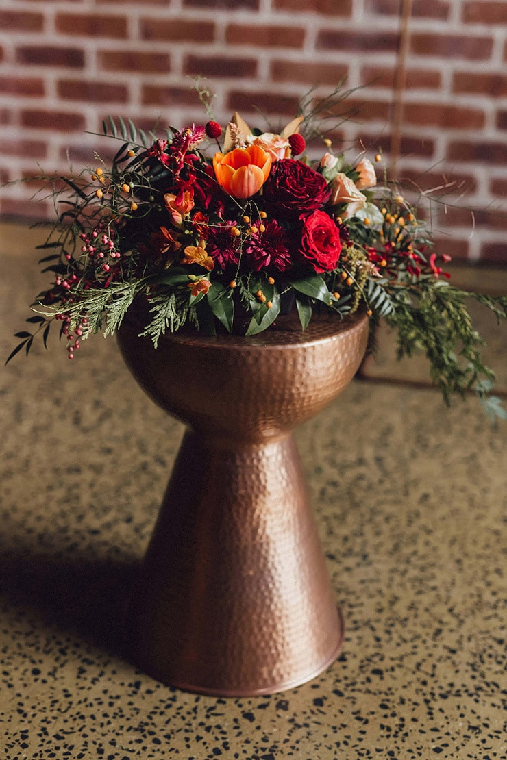 Modern Copper and Burgundy Wedding Inspiration  The Wedding Playbook
