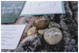 Sage & White Norse stationery with stone place settings