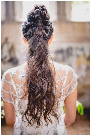 Faux mohawk and plait hairstyle