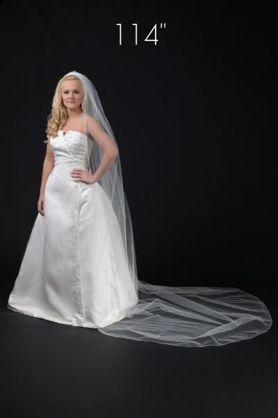 1 layer cathedral length veil