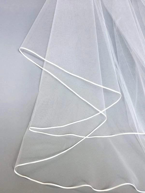 3mm ribbon on veil