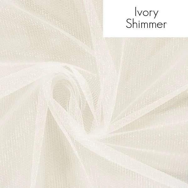 Veil fabric samples - Ivory shimmer
