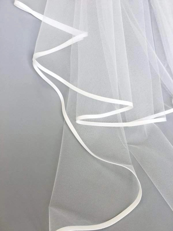 satin bias binding on veil