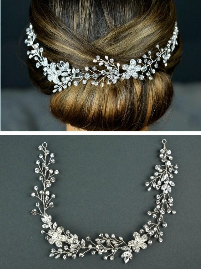 tlh3067 bridal hair vine