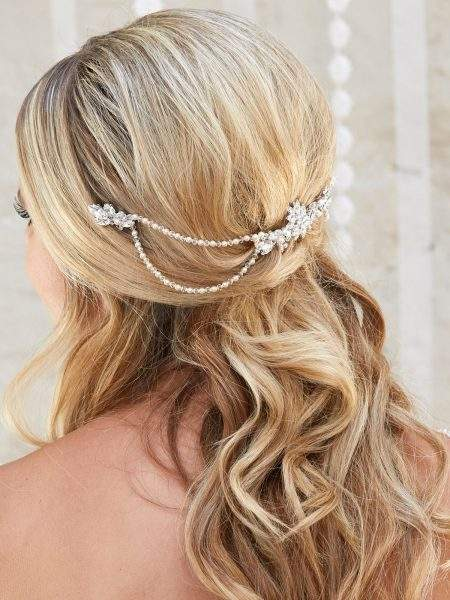 ar562 bridal hair drape