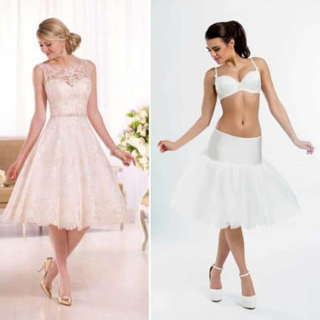 BP16 – Elasticated short bridal underskirt with no hoops