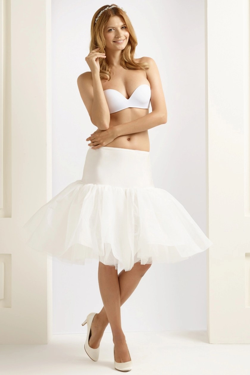 BP16 H16 short 1950 ruffles wedding bridal petticoat underskirt for brides ivory (1)