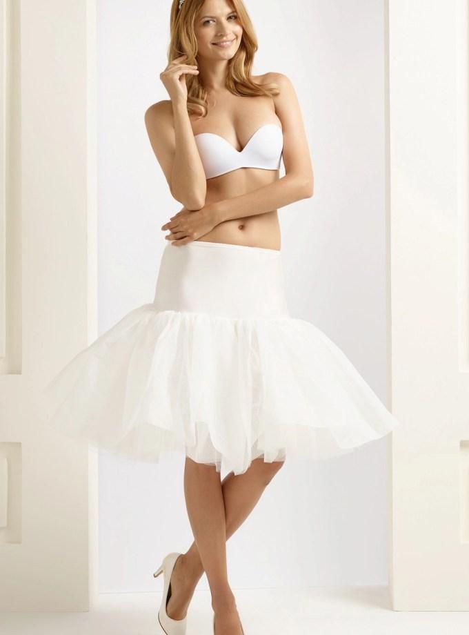 BP16 H16 short 1950 ruffles wedding bridal petticoat underskirt for brides ivory (1)