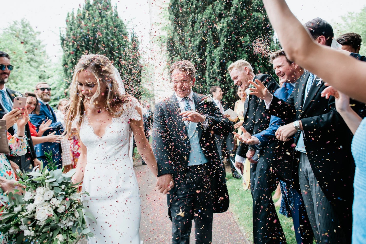 Barely there veil real bride Olivia Stephanie Swann photography