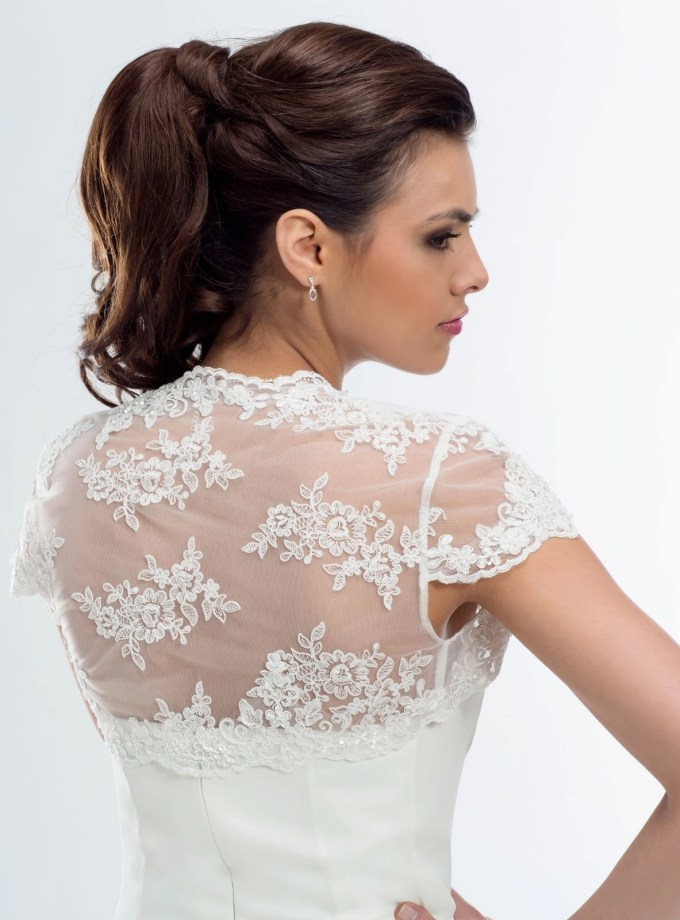BB105 lace bridal bolero