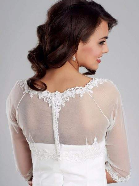 bb150 lace bridal jacket