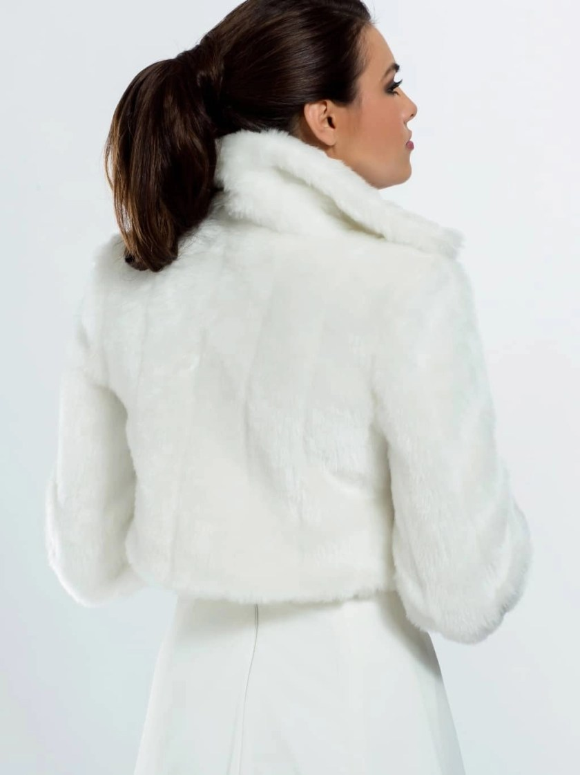 E20 BB20 fur bridal jacket back