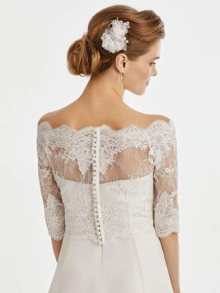 BB221 lace bridal jacket
