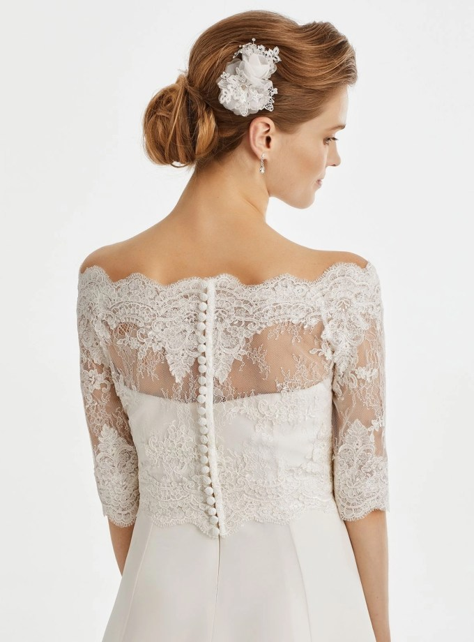 BB221 lace bridal jacket