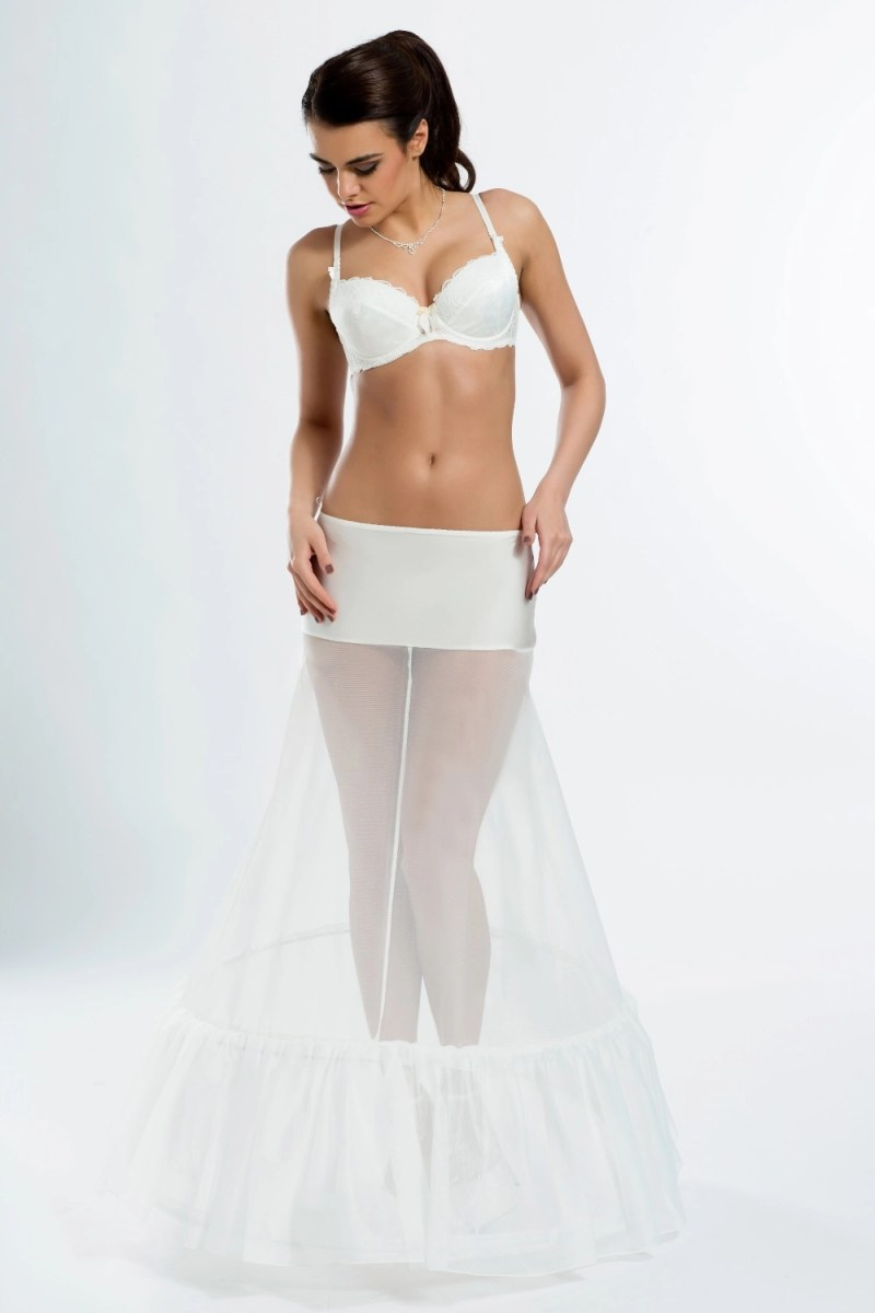 H1-270 BP1-270 A line wedding bridal underskirt petticoat with ruffles frills