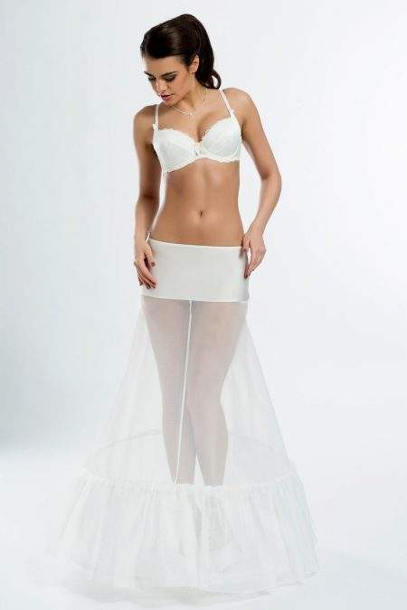 BP1-270 – Elasticated 270cm (106 inch) A-line bridal underskirt with two hoops