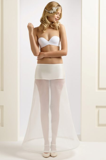 H2-220 BP2-220 A line bridal underskirt with one hoop (1)