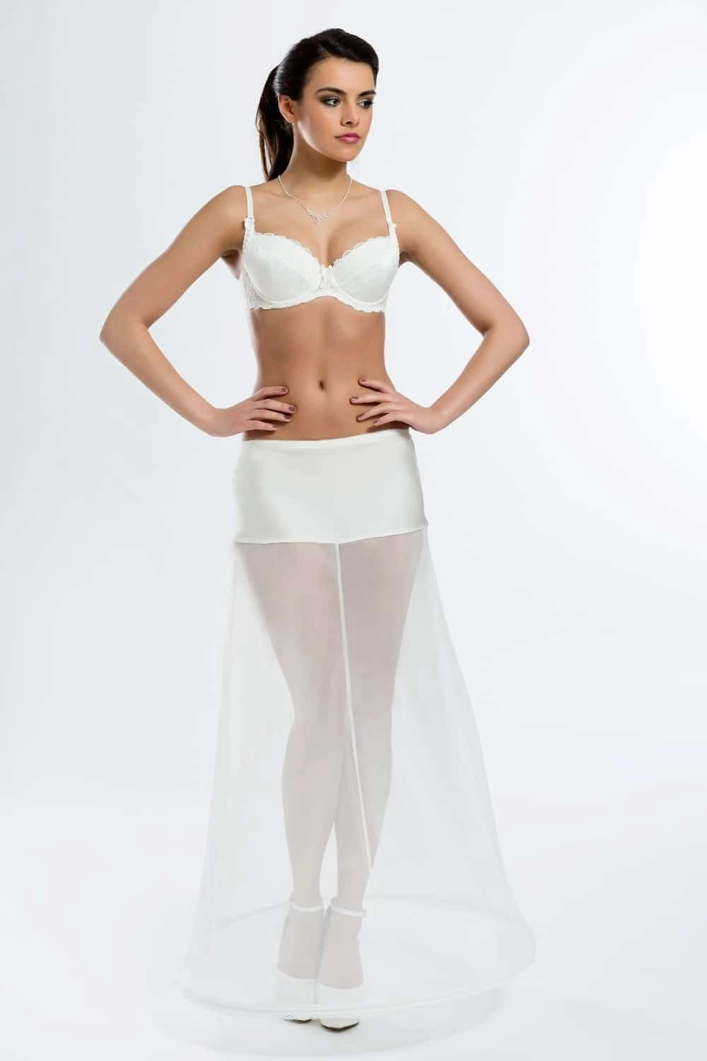 H2-220 BP2-220 A line bridal underskirt with one hoop BP2-220