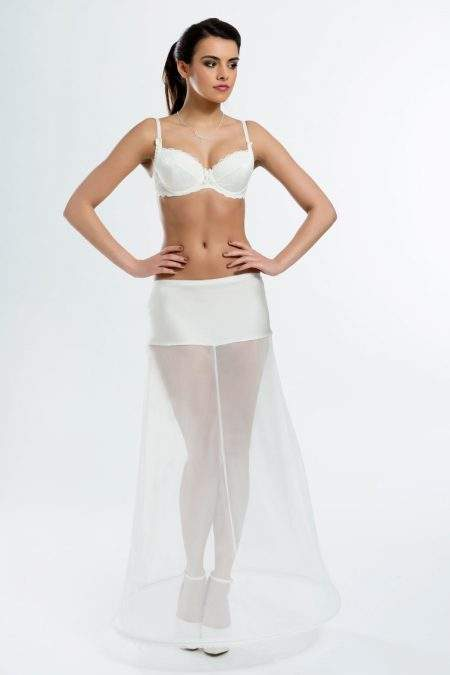 BP2-220 – Elasticated 220cm (87inch) A-line petticoat with one hoop
