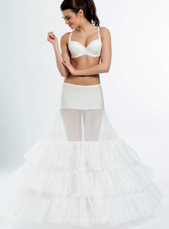 H5-370 BP5-370 extra wide full wedding bridal underskirt petticoat with ruffles
