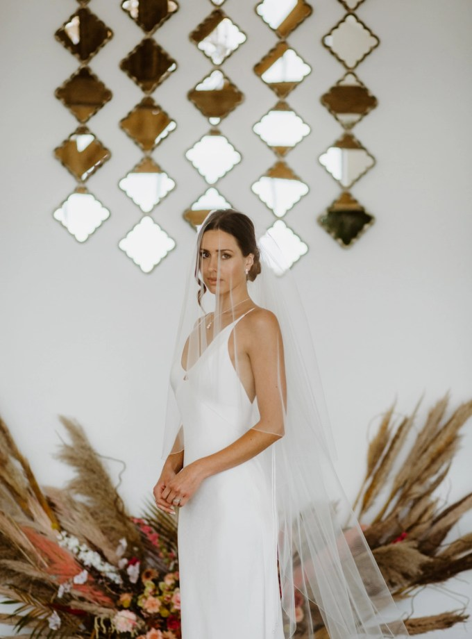 Paige – two layer chapel length wedding veil