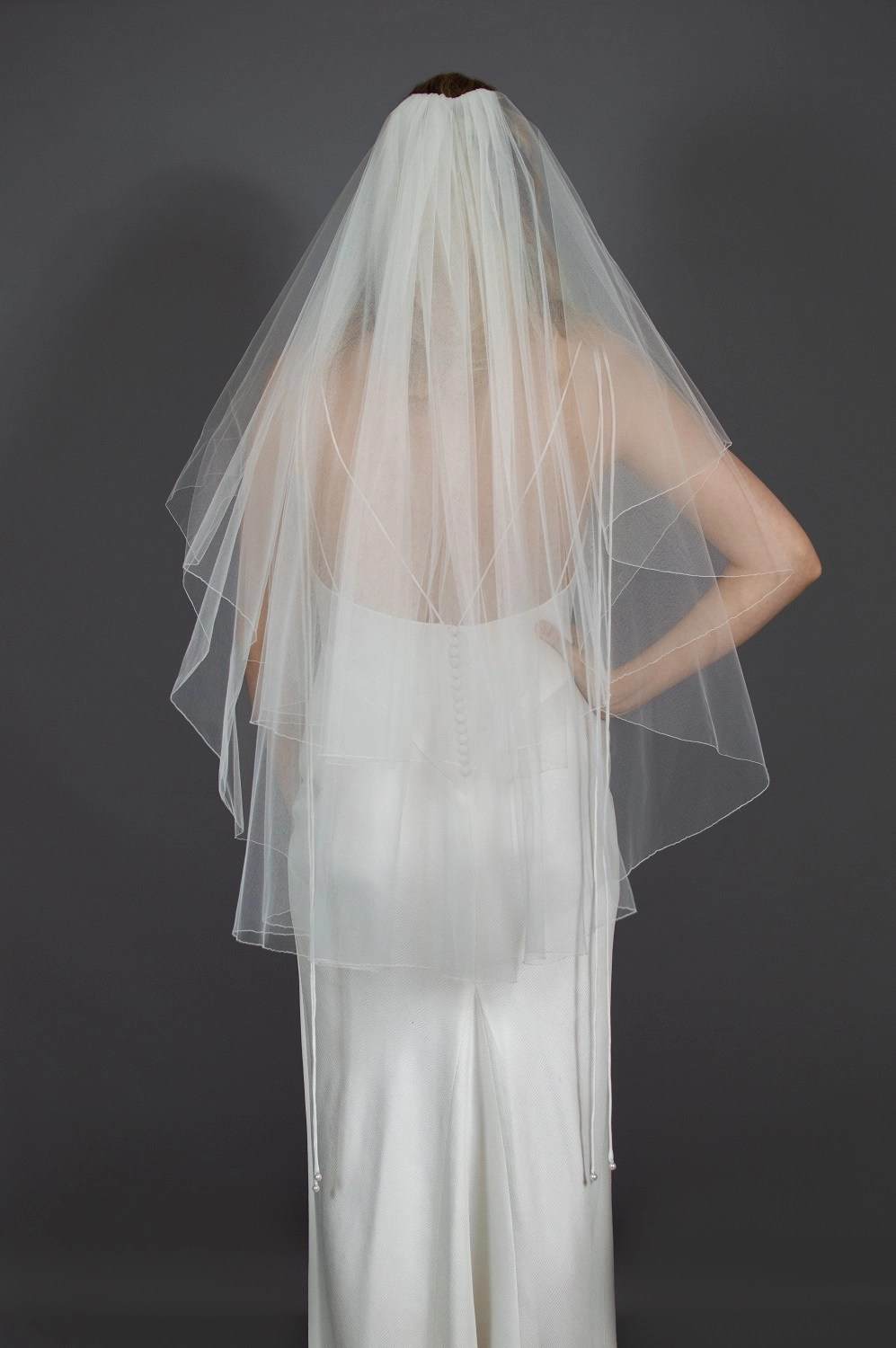 Wedding veil widths short two layer 108 inches wide