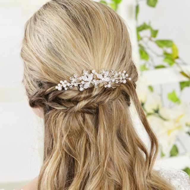 ar552 - pearl, diamante & crystal bridal hair comb