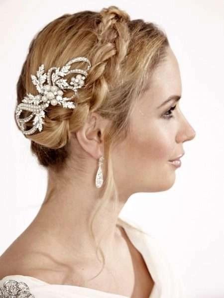 LP671 vintage style diamante & pearl bridal comb