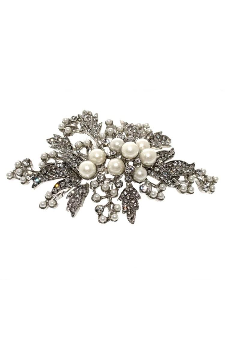 lp704 bintage rhudium silver hair comb for brides